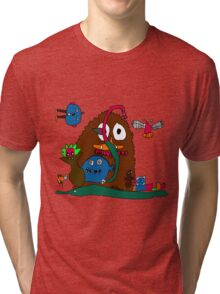 Monsters in the Closet by Joey Tri-blend T-Shirt