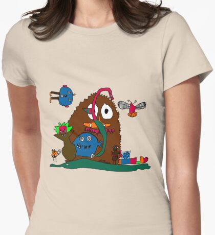 Monsters in the Closet by Joey Womens Fitted T-Shirt