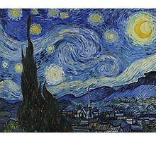 VINCENT, Starry Night, Vincent van Gogh, Art, Artist, 1889  Photographic Print