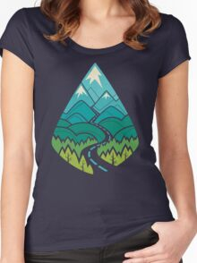 The Road Goes Ever On: Summer Women's Fitted Scoop T-Shirt