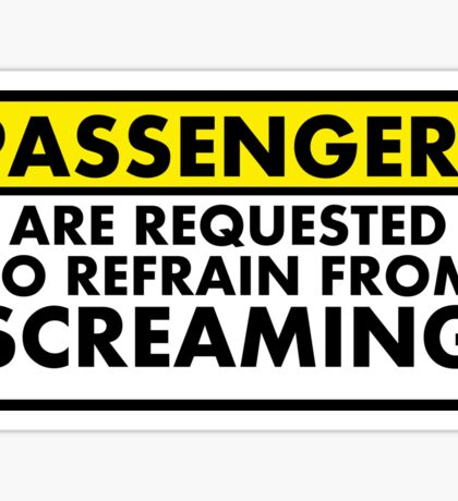 Passenger Warning Sticker Sticker