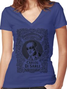 Carlos Di Sarli (in black) Women's Fitted V-Neck T-Shirt