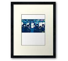 Rush Hour on the Tokyo Metro Framed Print