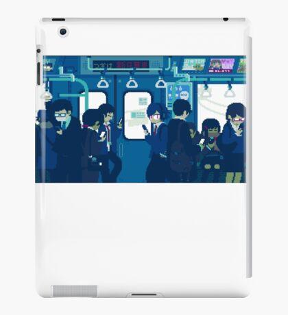 Rush Hour on the Tokyo Metro iPad Case/Skin