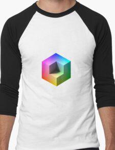 Hue Cube Men's Baseball ¾ T-Shirt