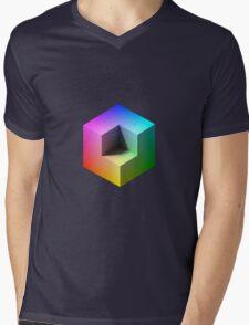 Hue Cube Mens V-Neck T-Shirt