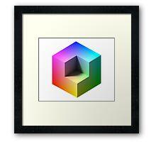Hue Cube Framed Print