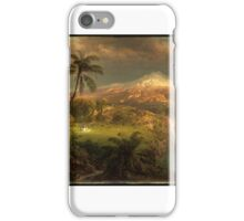 Church, Frederic_Edwin, Passing Shower in the Tropics iPhone Case/Skin