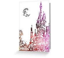 Castle with color Greeting Card