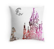 Castle with color Throw Pillow