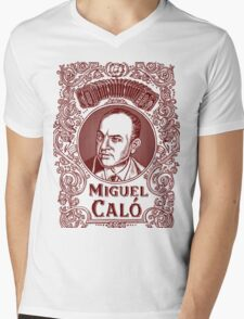 Miguel Caló (in red) Mens V-Neck T-Shirt