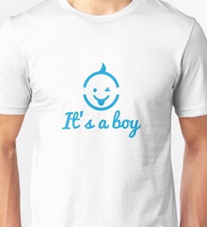 it's a boy design with cute face icon  Unisex T-Shirt