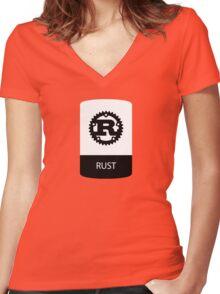rust programming language sticker plus Women's Fitted V-Neck T-Shirt