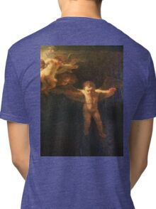 Angel, Naked, Angelic, Cherub, with wings, Church, St Petersburg Russia.  Tri-blend T-Shirt