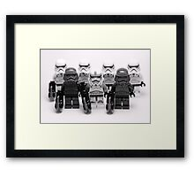 Lego Star Wars Stormtroopers Group Picture Minifigure Framed Print