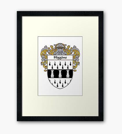 Higgins Coat of Arms/Family Crest Framed Print