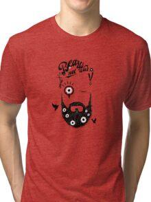 Make Beards not War! (typo edition) Tri-blend T-Shirt