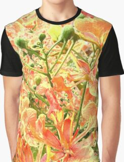 Abstract Summer Floral Graphic T-Shirt