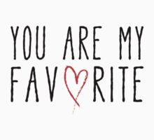 You are my favorite text design with red scribble heart Baby Tee