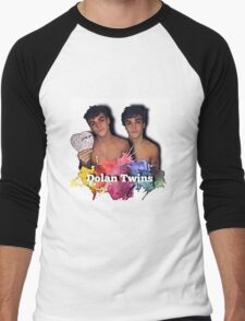 Dolan Twins- paint splat shirtless cartoon Men's Baseball ¾ T-Shirt