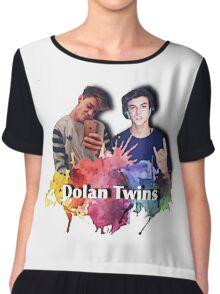 Dolan twins- rainbow paint splat, cartoon Chiffon Top