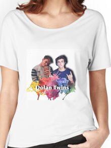 Dolan twins- rainbow paint splat, cartoon Women's Relaxed Fit T-Shirt