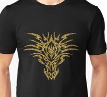 Angry Dragon Gold Glitter Silhouette Unisex T-Shirt
