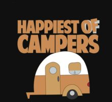 Happiest of Campers Retro themed Orange Camper One Piece - Long Sleeve