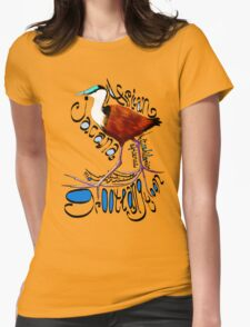 African Jacana; Groot Langtoon; Actophilornis africanus Womens Fitted T-Shirt