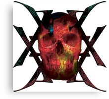 Burning Granite - Skull Collection Canvas Print