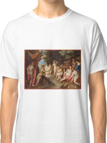 Jan Brueghel The Elder - Diana And Callisto 1605. Vintage surrealism  oil famous painting : lovely, woman ,  fantastic, diana, nude, beautiful, wonderful. Classic T-Shirt