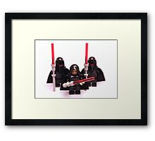 Lego Star Wars Emperor & Shadow Guards March Minifigure Framed Print
