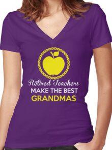 Retired teacher  Women's Fitted V-Neck T-Shirt