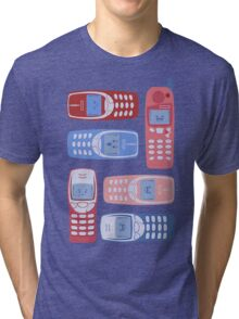 Vintage Cellphone Reactions Tri-blend T-Shirt