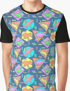 Nineties Dinosaurs Pattern Graphic T-Shirt