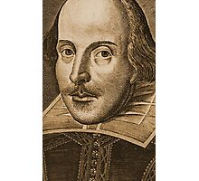Shakespeare Droeshout Engraving Portrait Photographic Print