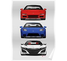 Honda NSX generations  Poster