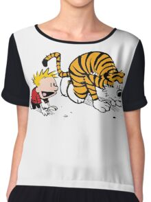 Calvin And Hobbes : Get Set, Ready, Go ... Chiffon Top