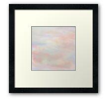 Pale Clouds at Dawn. Framed Print