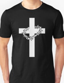 JESUS CROSS AND THORNS CHRISTIAN GOD LOVE CRUCIFIX CROWN CATHOLIC CALVARY HEAVEN EASTER Unisex T-Shirt