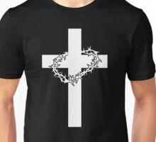 JESUS CROSS AND THORNS CHRISTIAN GOD LOVE CRUCIFIX CROWN CATHOLIC CALVARY HEAVEN EASTER Unisex T-Shirt