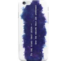 To The Stars That Listen (White) - A Court of Mist and Fury iPhone Case/Skin