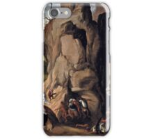 Giovanni Girolamo Savoldo, active -after Torment of St. Anthony, ca.  iPhone Case/Skin