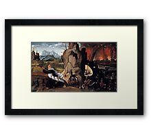 Giovanni Girolamo Savoldo, active -after Torment of St. Anthony, ca.  Framed Print