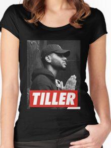 bryson tiller Women's Fitted Scoop T-Shirt