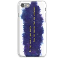 To The Stars That Listen (Gold) - A Court of Mist and Fury iPhone Case/Skin