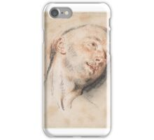 Head of a Man , Antoine Watteau (French, Valenciennes  Nogent-sur-Marne) iPhone Case/Skin
