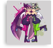 splatoon squid sisters Canvas Print