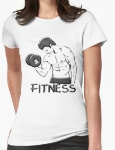 Fitness man Womens Fitted T-Shirt
