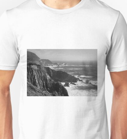 Big Sur Coast BW  Unisex T-Shirt